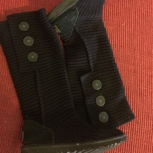 VERY WARM BLACK UGG CARDY BOOTS